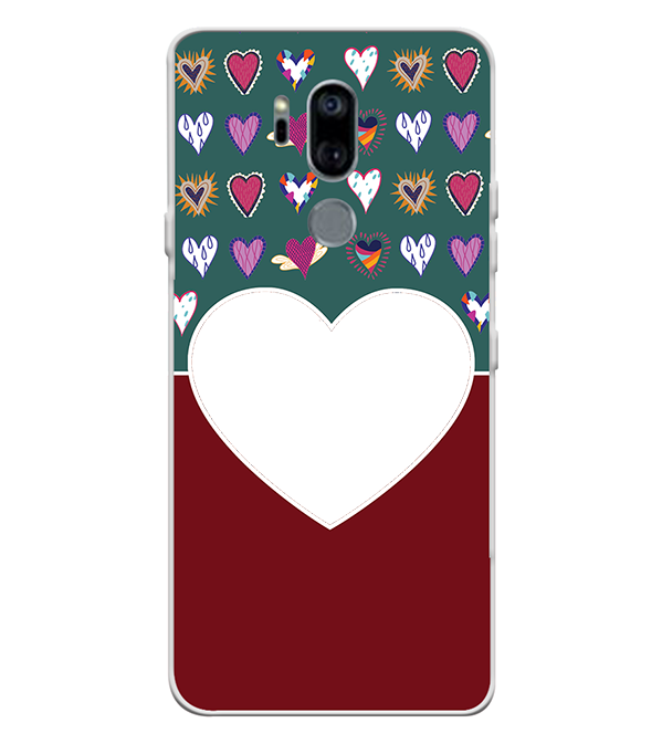 Hearts Photo Back Cover for LG G7