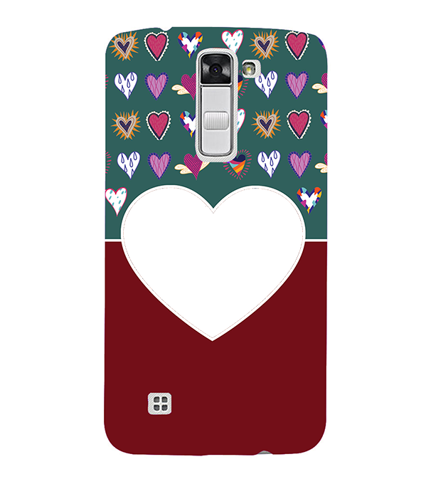 Hearts Photo Back Cover for LG K10
