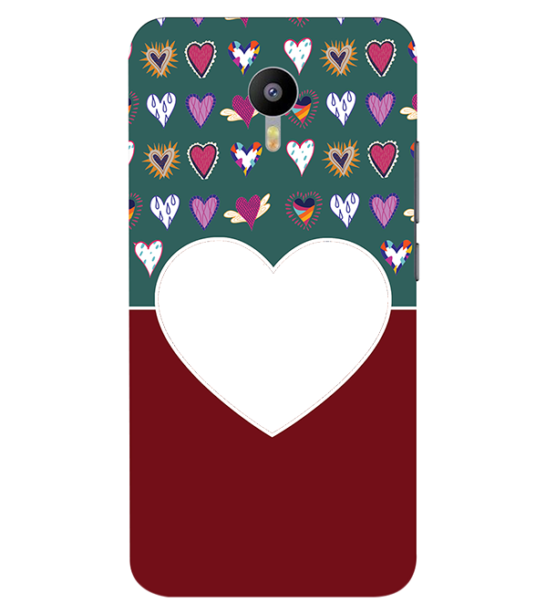Hearts Photo Back Cover for Meizu M2