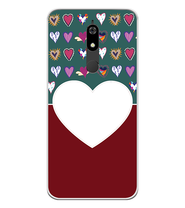 Hearts Photo Back Cover for Micromax Canvas Infinity Pro