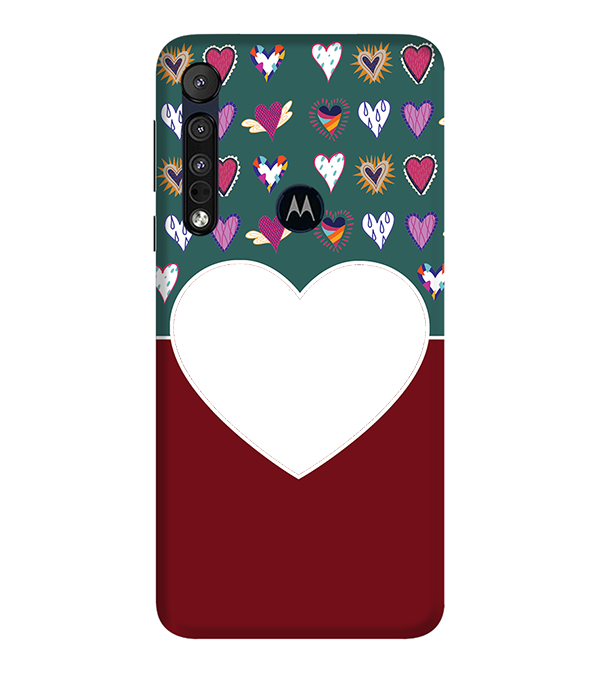 Hearts Photo Back Cover for Motorola One Macro