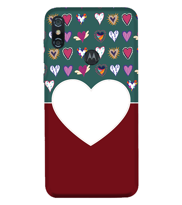 Hearts Photo Back Cover for Motorola One (P30 Play)