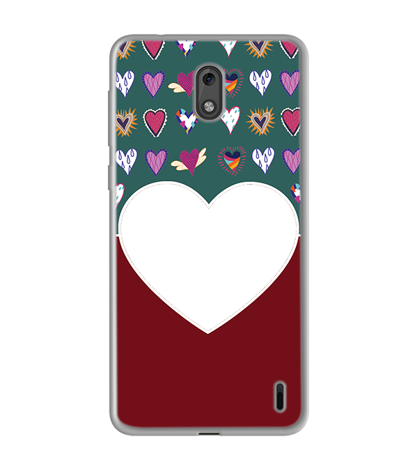 Hearts Photo Back Cover for Nokia 2