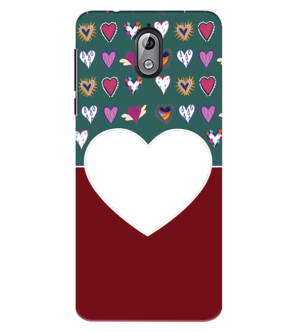 Hearts Photo Back Cover for Nokia 3.1 (2018)