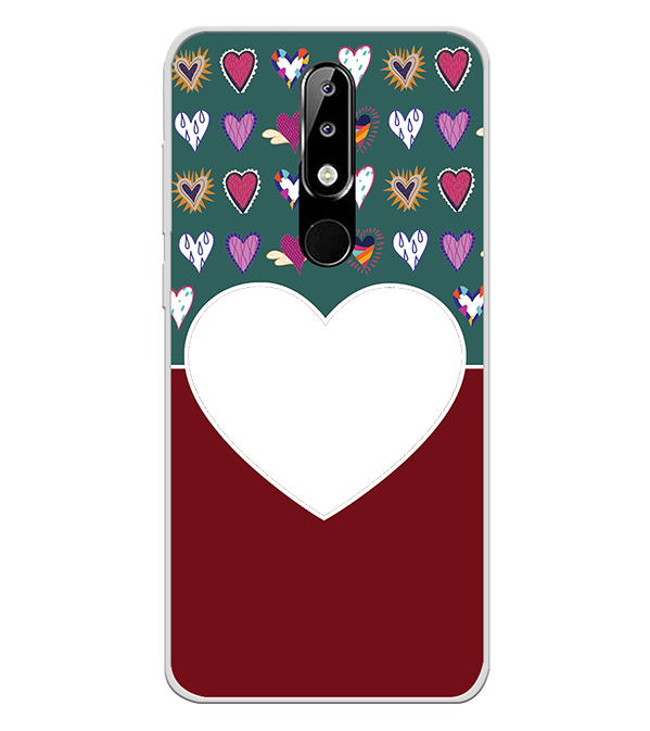Hearts Photo Back Cover for Nokia 5.1 Plus (Nokia X5)