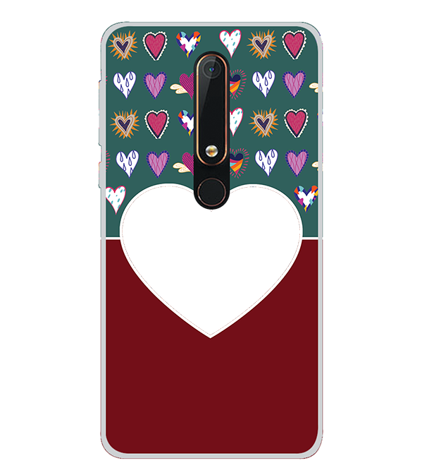 Hearts Photo Back Cover for Nokia 6.1 (2018)