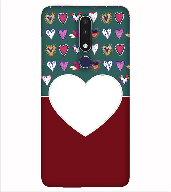 Hearts Photo Back Cover for Nokia 7.1