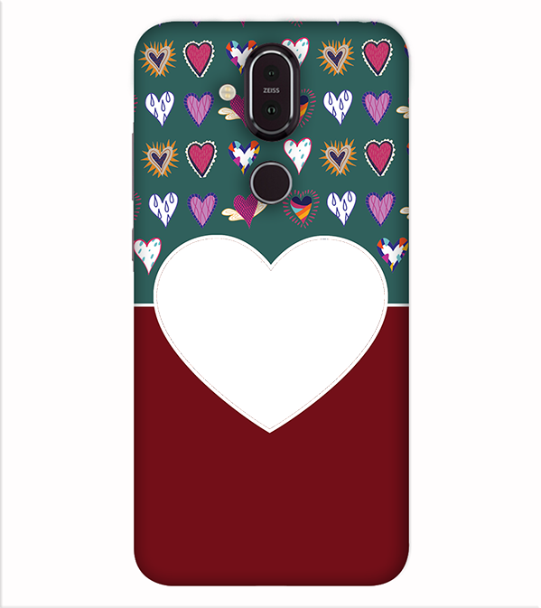 Hearts Photo Back Cover for Nokia 8.1 (Nokia X7)