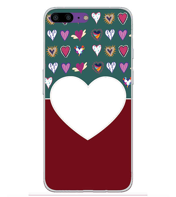 Hearts Photo Back Cover for OnePlus 5