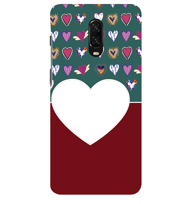 Hearts Photo Back Cover for OnePlus 6T