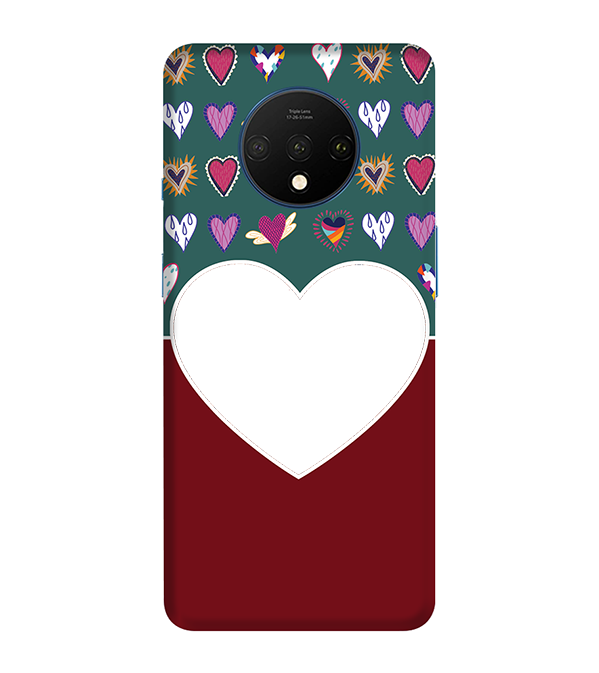 Hearts Photo Back Cover for OnePlus 7T