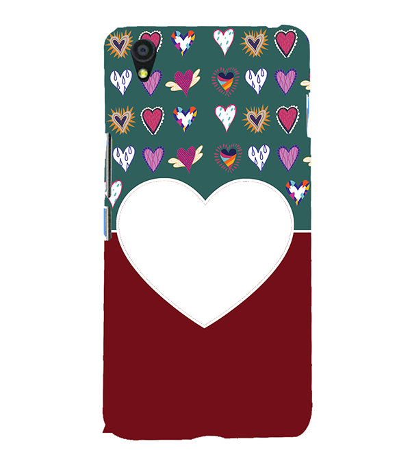 Hearts Photo Back Cover for OnePlus X
