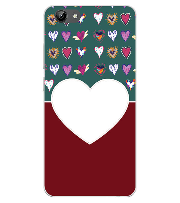 Hearts Photo Back Cover for Oppo A1k