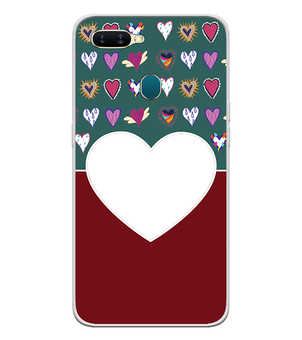 Hearts Photo Back Cover for Oppo A7