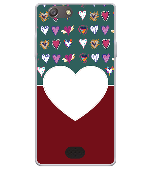 Hearts Photo Back Cover for Oppo Neo 5