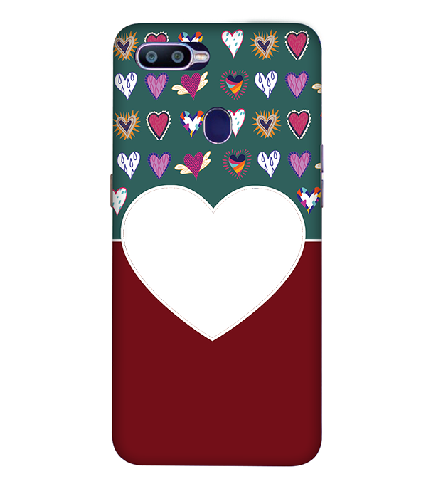 Hearts Photo Back Cover for Oppo R15 Pro