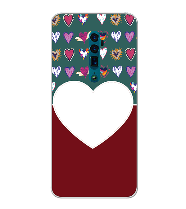 Hearts Photo Back Cover for Oppo Reno 10x zoom