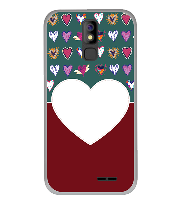 Hearts Photo Back Cover for Panasonic P100