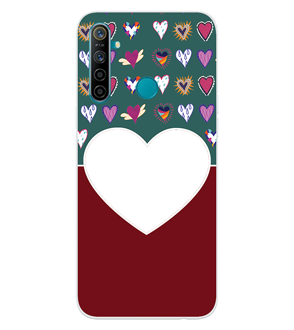 Hearts Photo Back Cover for Realme 5i