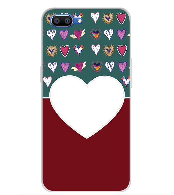 Hearts Photo Back Cover for Realme C1 (2019)