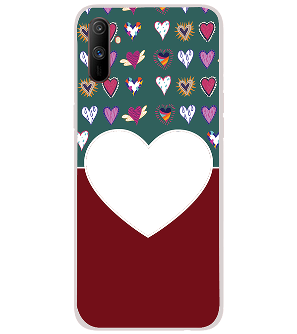Hearts Photo Back Cover for Realme C3