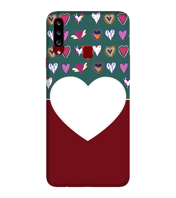 Hearts Photo Back Cover for Samsung Galaxy A20s