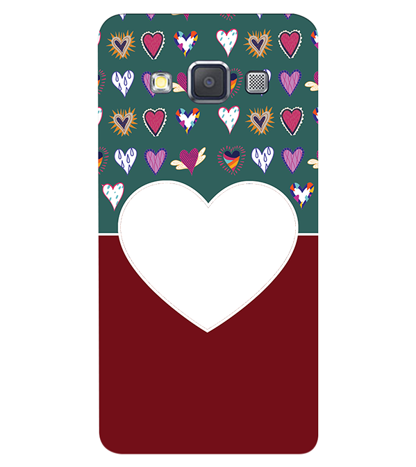 Hearts Photo Back Cover for Samsung Galaxy A3 (2015)