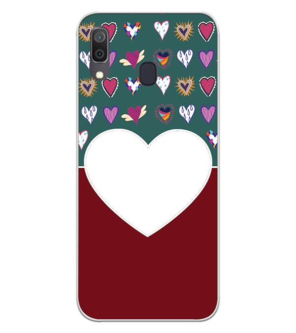 Hearts Photo Back Cover for Samsung Galaxy A30