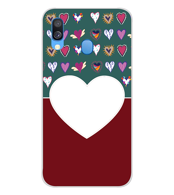 Hearts Photo Back Cover for Samsung Galaxy A40