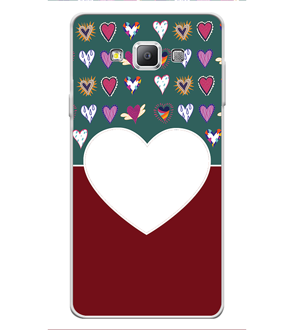 Hearts Photo Back Cover for Samsung Galaxy A7 (2015)