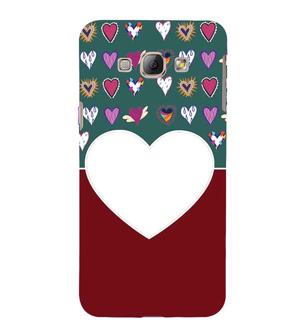 Hearts Photo Back Cover for Samsung Galaxy A8 (2015)
