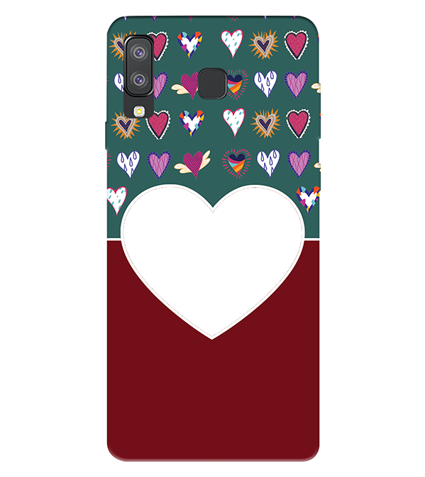 Hearts Photo Back Cover for Samsung Galaxy A8 Star