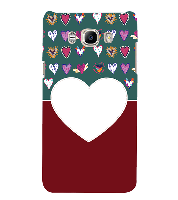 Hearts Photo Back Cover for Samsung Galaxy J7 (6) 2016 : Galaxy On 8