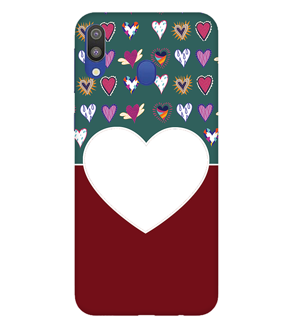 Hearts Photo Back Cover for Samsung Galaxy M20