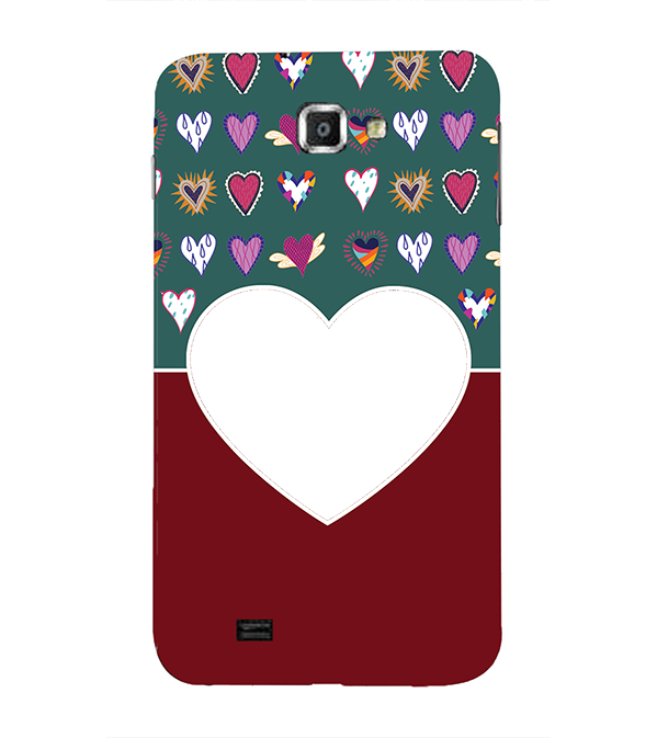 Hearts Photo Back Cover for Samsung Galaxy Note N7000