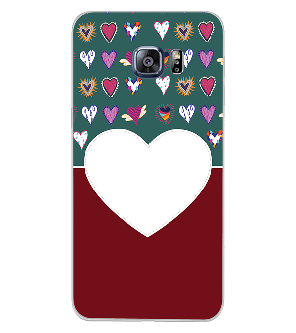 Hearts Photo Back Cover for Samsung Galaxy S6 Edge