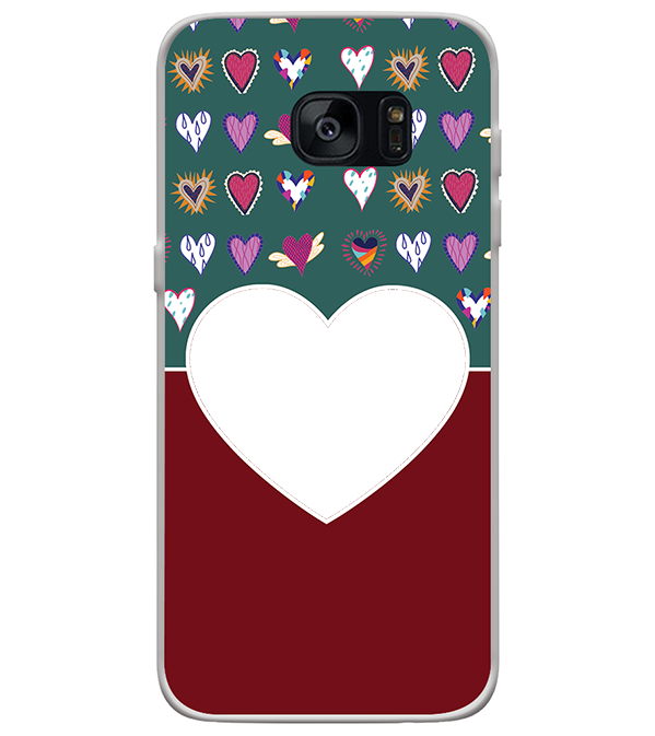 Hearts Photo Back Cover for Samsung Galaxy S7 Edge