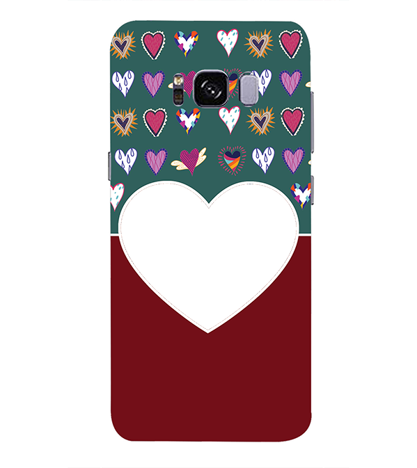 Hearts Photo Back Cover for Samsung Galaxy S8