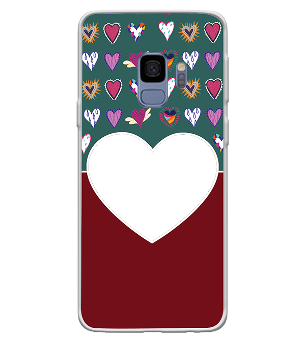 Hearts Photo Back Cover for Samsung Galaxy S9