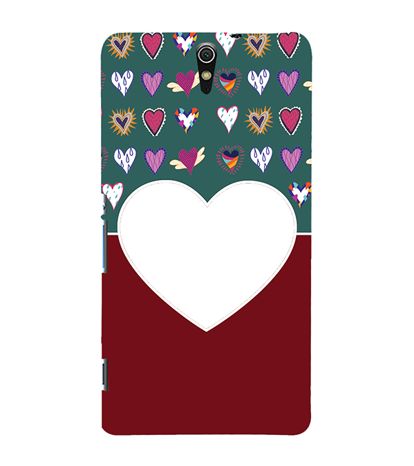 Hearts Photo Back Cover for Sony Xperia C5