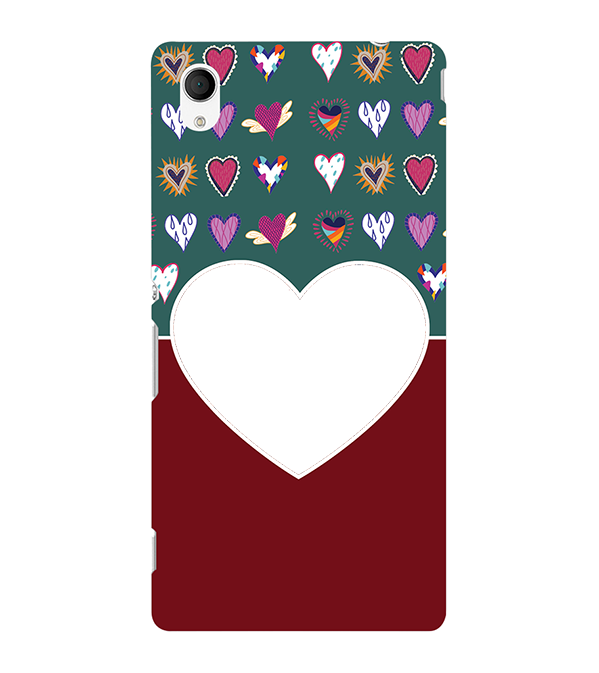 Hearts Photo Back Cover for Sony Xperia M4 Aqua