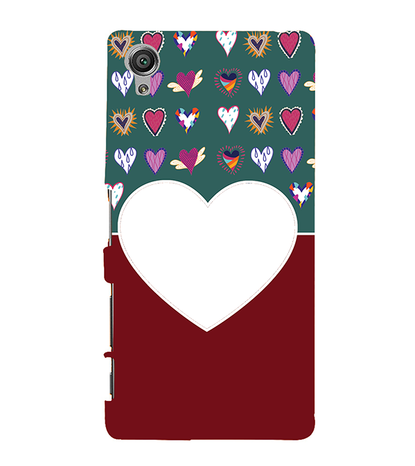 Hearts Photo Back Cover for Sony Xperia X