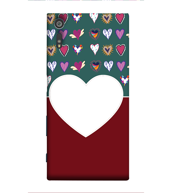 Hearts Photo Back Cover for Sony Xperia XZ
