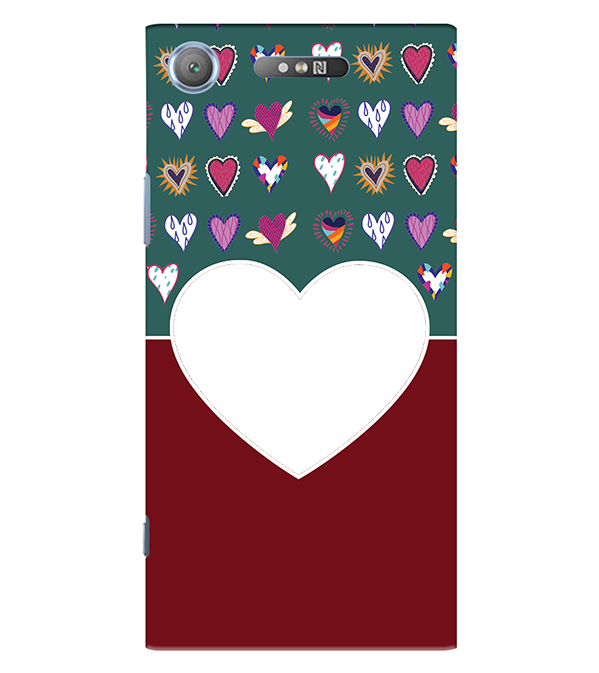 Hearts Photo Back Cover for Sony Xperia XZ1