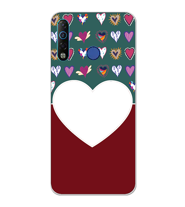 Hearts Photo Back Cover for Tecno Camon 12 Air