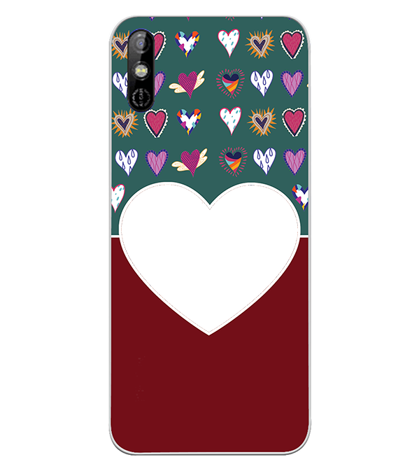 Hearts Photo Back Cover for Tecno Spark Go
