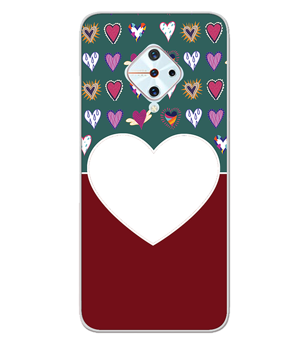 Hearts Photo Back Cover for Vivo S1 Pro