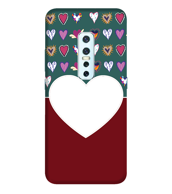 Hearts Photo Back Cover for Vivo V17 Pro