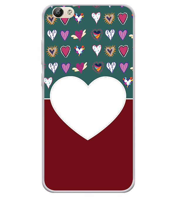 Hearts Photo Back Cover for Vivo Y66