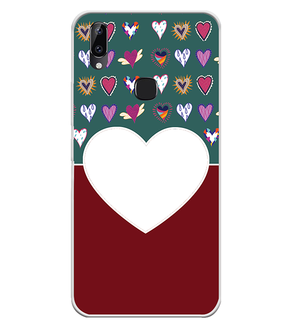 Hearts Photo Back Cover for Vivo Y83 Pro